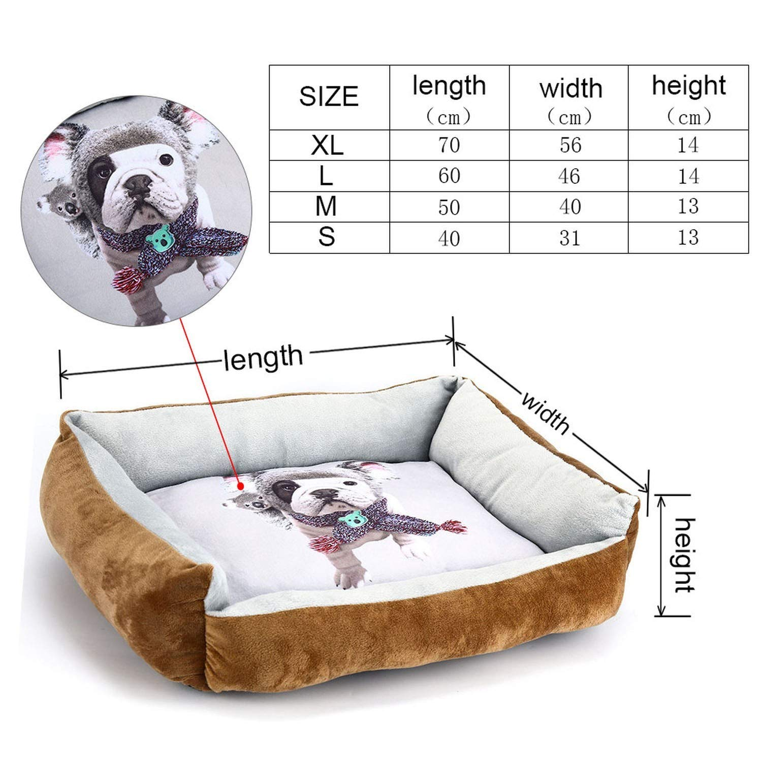 Brown M As PictureBeds for Dogs Bed Cats Cotton Breathable Dog Sofas House for Cats Dog Bed Hand Wash Bench for Small Large Dogs Bed Pets XR0002,Pink,XL