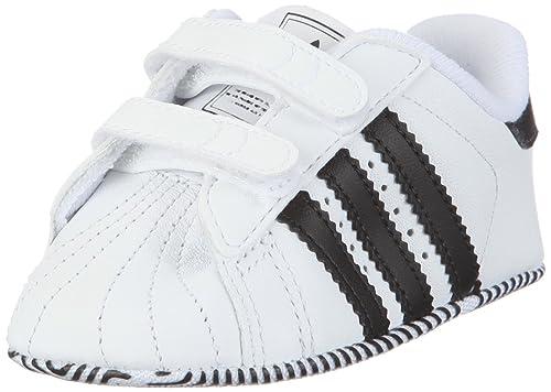 more photos 967ea 995b8 adidas Originals SUPERSTAR 2 CMF CRIB - Zapatillas de cuero para niño,  color blanco, talla 18  Amazon.es  Zapatos y complementos