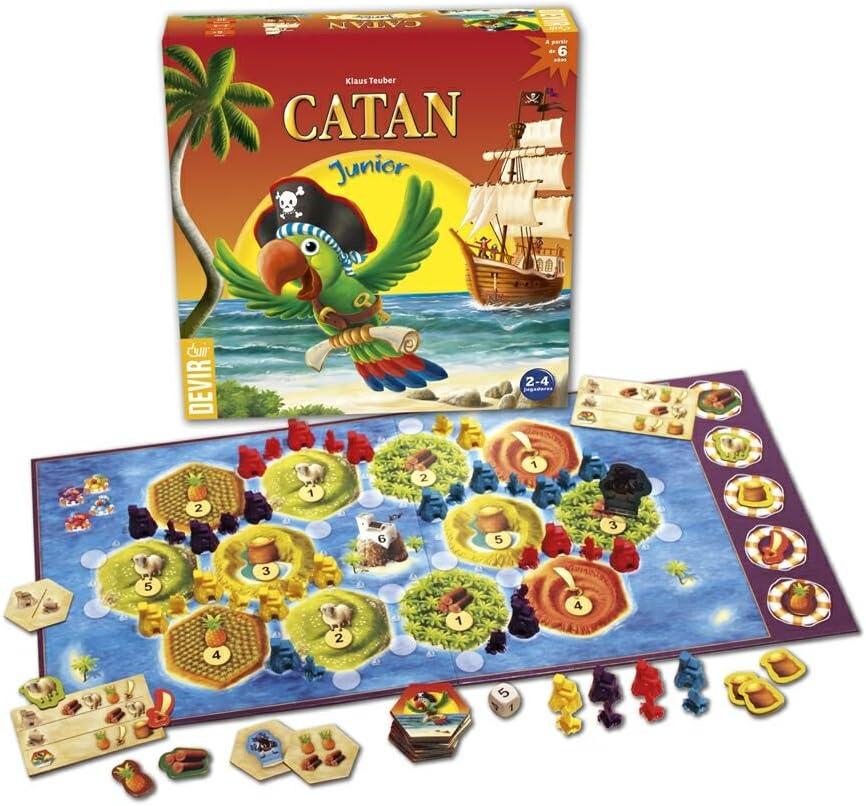 Comprar Devir- Juego Junior ¡Coloniza La Isla De Catan con Astucia Y Estrategia, Multicolor, Talla Única (221947)