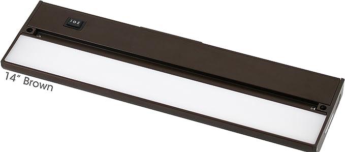 "32/"" White 120v Under Cabinet LED 760 Lumen Light Hard Wire Linkable with Knock"