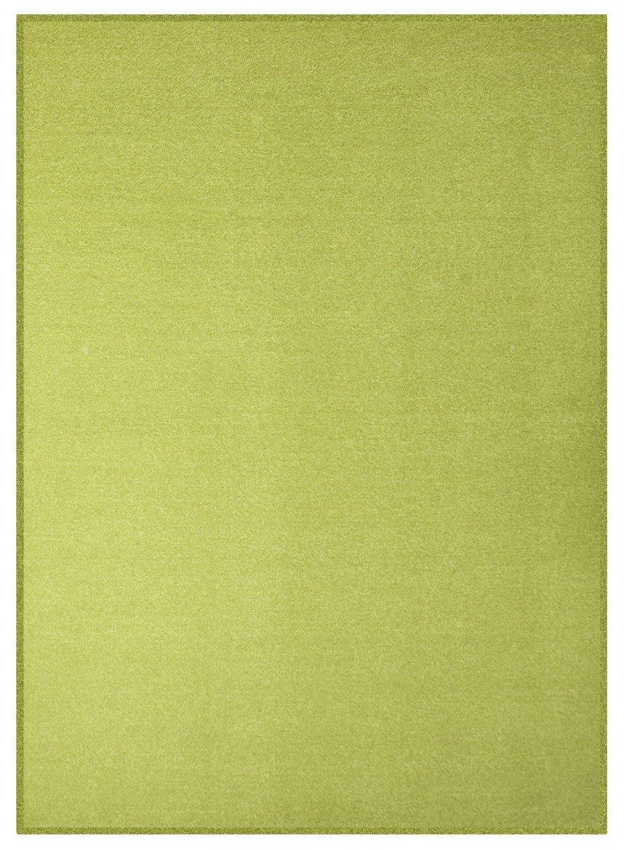Havatex Velours Teppich Trend - schadstoffgeprüft und pflegeleicht   schmutzabweisend robust strapazierfähig   Wohnzimmer Schlafzimmer, Farbe Grün, Größe 300 x 400 cm