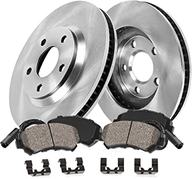 For 2007-2010 BMW X5 X6 Front eLine Drill Slot Brake Rotors+Ceramic Brake Pads