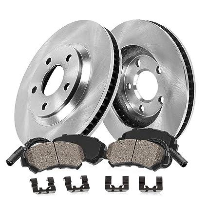 OE Series Rotors + Ceramic Pads Max Brakes Rear Premium Brake Kit Fits: 2006 06 BMW 325i E90 2WD Models KT087442