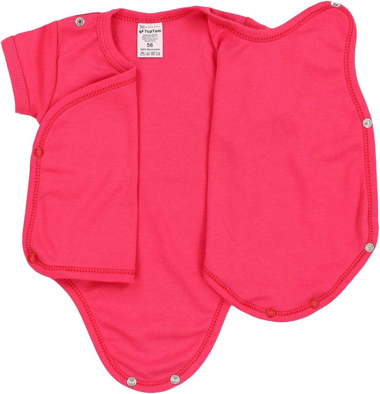 TupTam Body da Neonato per Bambine Maniche Corte Pacco da 5