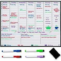 Pizarra Magnética con Planificador Semanal para Refrigerador – Planificador de Comidas Semanales – Planificador Familiar…