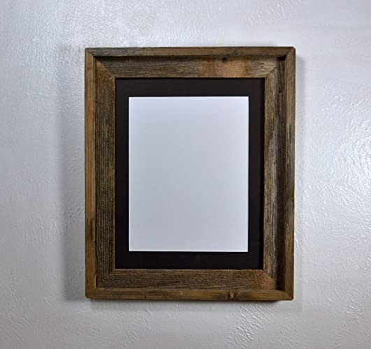 Amazon Rustic Picture Frame 85x11 Black Mat Reclaimed Wood