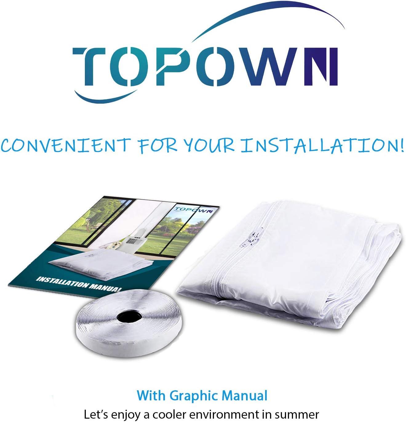 TOPOWN 15cm Kit Ventana Adaptador de Ventana 6  Conector de Adaptador de Ventana para Aire Acondicionado port/átil F/ácil de Instalar