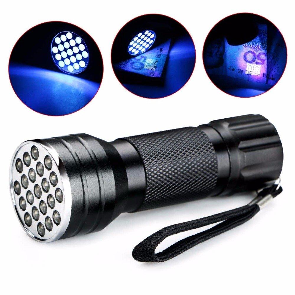 Hangang Flashlights,Flashlight UV LED Ultra Violet Flashlight LED Flashlight Water Resistant Handheld Flashlight for Distinguish Ore, jewelry, jade