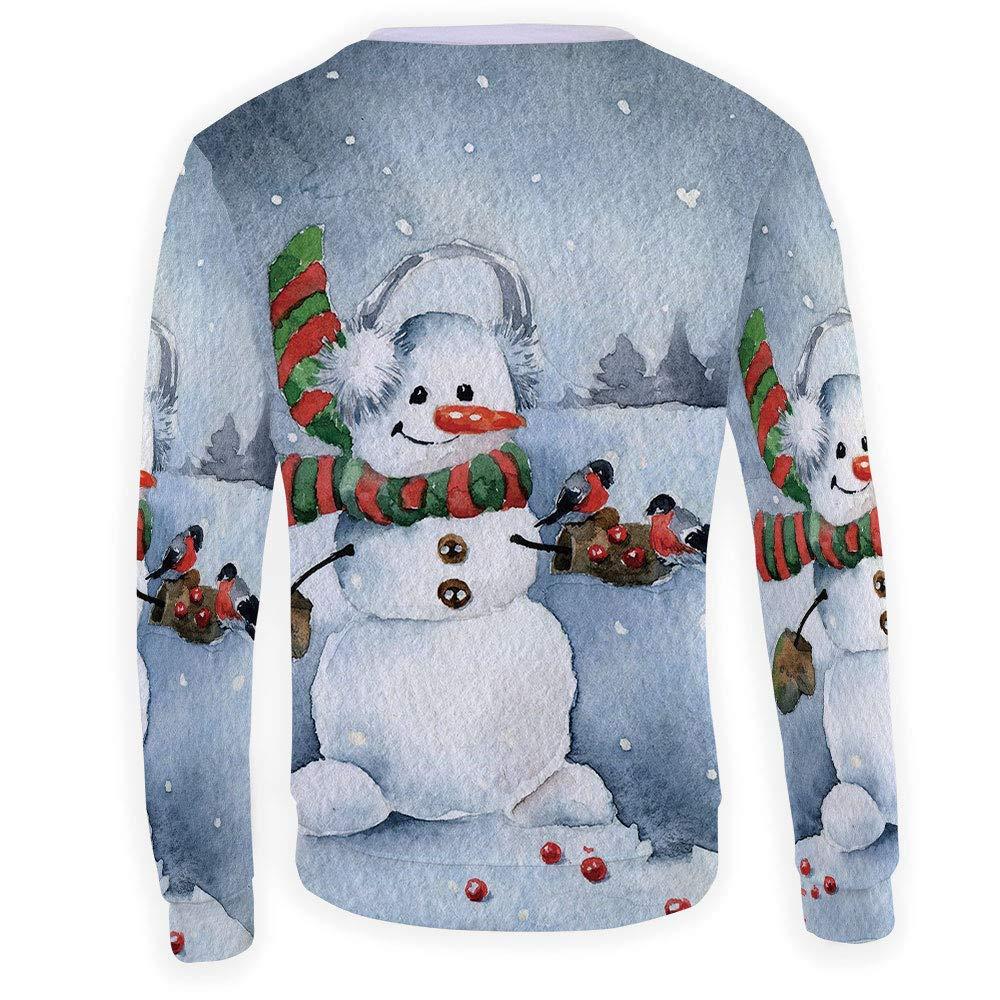 Unisex Snowman Sweatshirts Crewneck