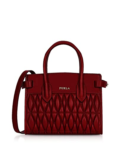42e35d01407 Furla Women's 994216 Red Leather Handbag: Amazon.co.uk: Clothing