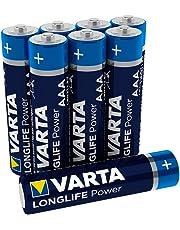 Varta Longlife Power Batterie AAA Micro Alkaline Batterien LR03 (8er Pack)