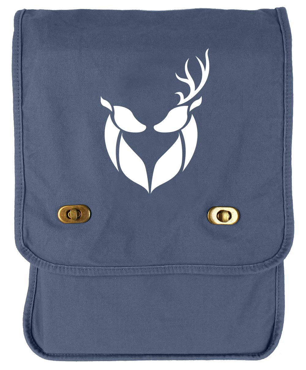 Tenacitee Buck and Doe Flamingo Raw Edge Canvas Messenger Bag