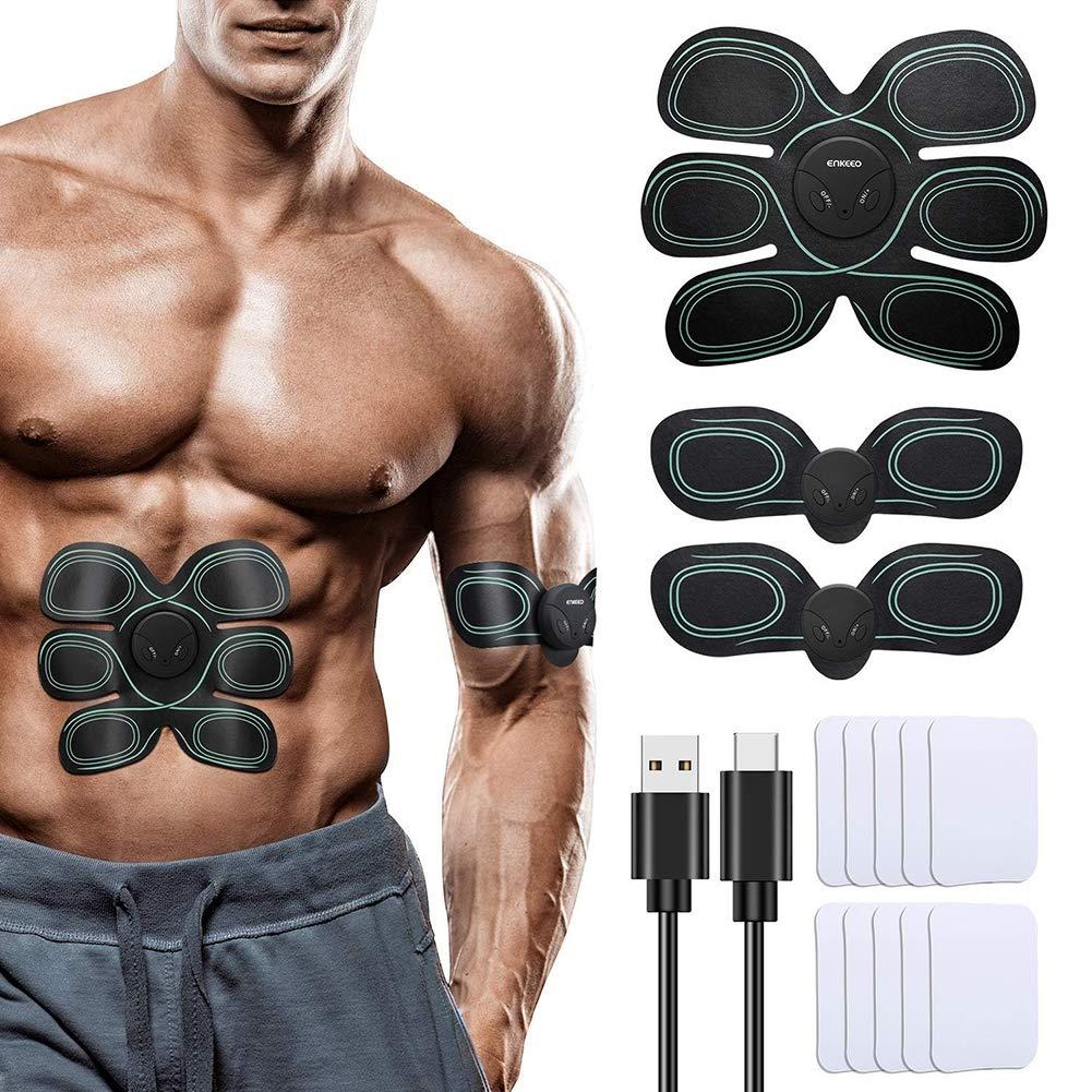 EMS Estimulador Muscular para Piernas Equipo de Entrenamiento para Hombres y Mujeres Brazo y Abdome Mrzyzy Electroestimulador Abdominal USB Recargable