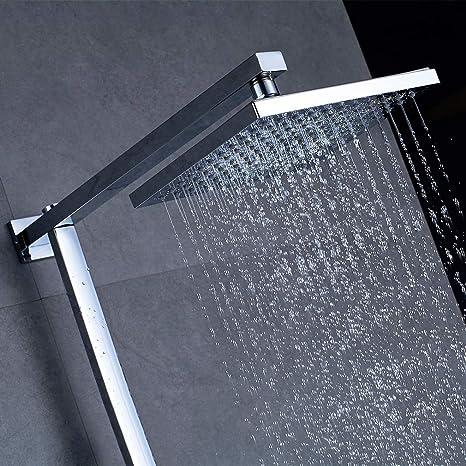 obeeonr Panel Columna de ducha LED multi-fonctionnel en acero inoxidable – grifo equipé ducha de mano con 5 Vías de agua System conjunto con pantalla grifo para cuarto de baño, plateado: Amazon.es: