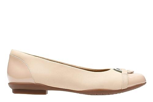 Clarks Mocasines Para Mujer Beige Nude Combi: Amazon.es: Zapatos y complementos