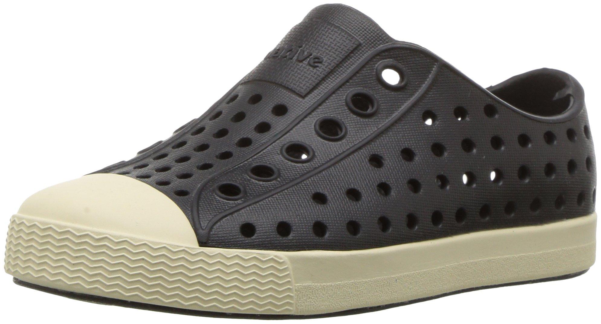 Native Kids Shoes Unisex Jefferson (Toddler/Little Kid) Jiffy Black Sneaker 4 Toddler M