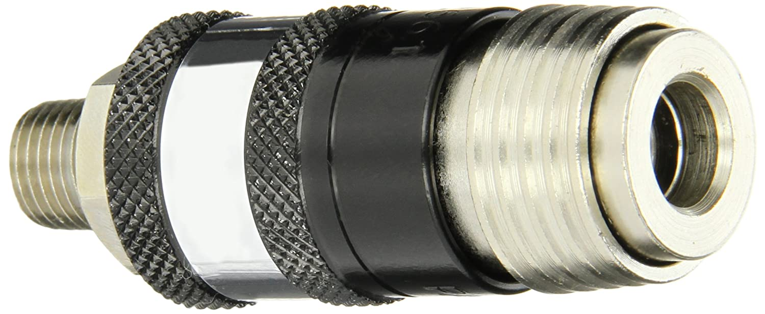 Coilhose Pneumatics 152USE 5-in-1 Automatic Safety Exhaust Coupler, 1/4-Inch Body Size, 1/4-Inch Male NPT