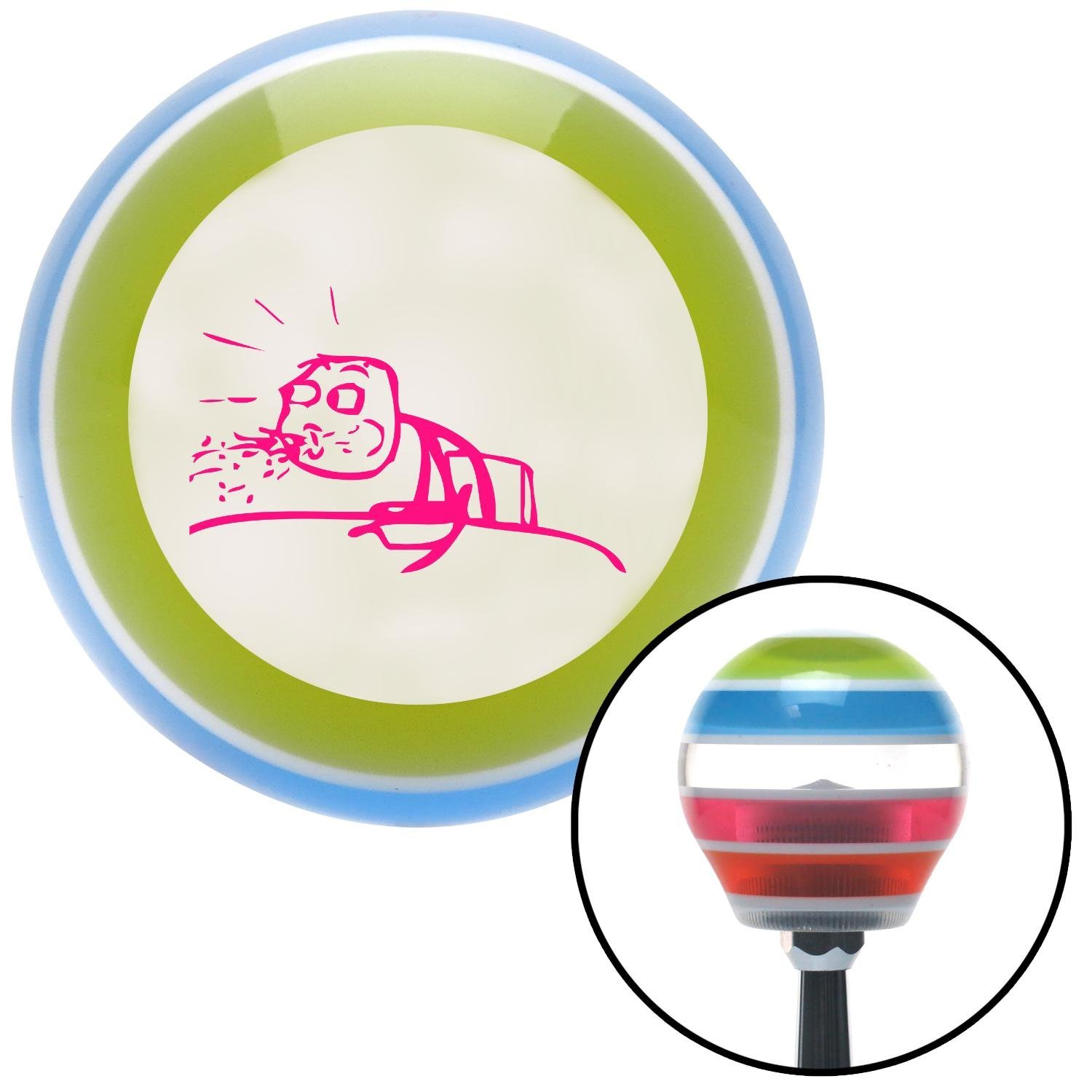 American Shifter 133716 Stripe Shift Knob with M16 x 1.5 Insert Pink Guy Cereal Spitting