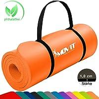 MOVIT® Tapis de Gymnastique Mat de Yoga sans phtalate Fitness Pilates/Sport/Gym SGS/Sol testé, en 2 Tailles 190cm x 100cm ou 190cm x 60cm, très épais Épaisseur: 1,5cm en 12 Couleurs Rembourré