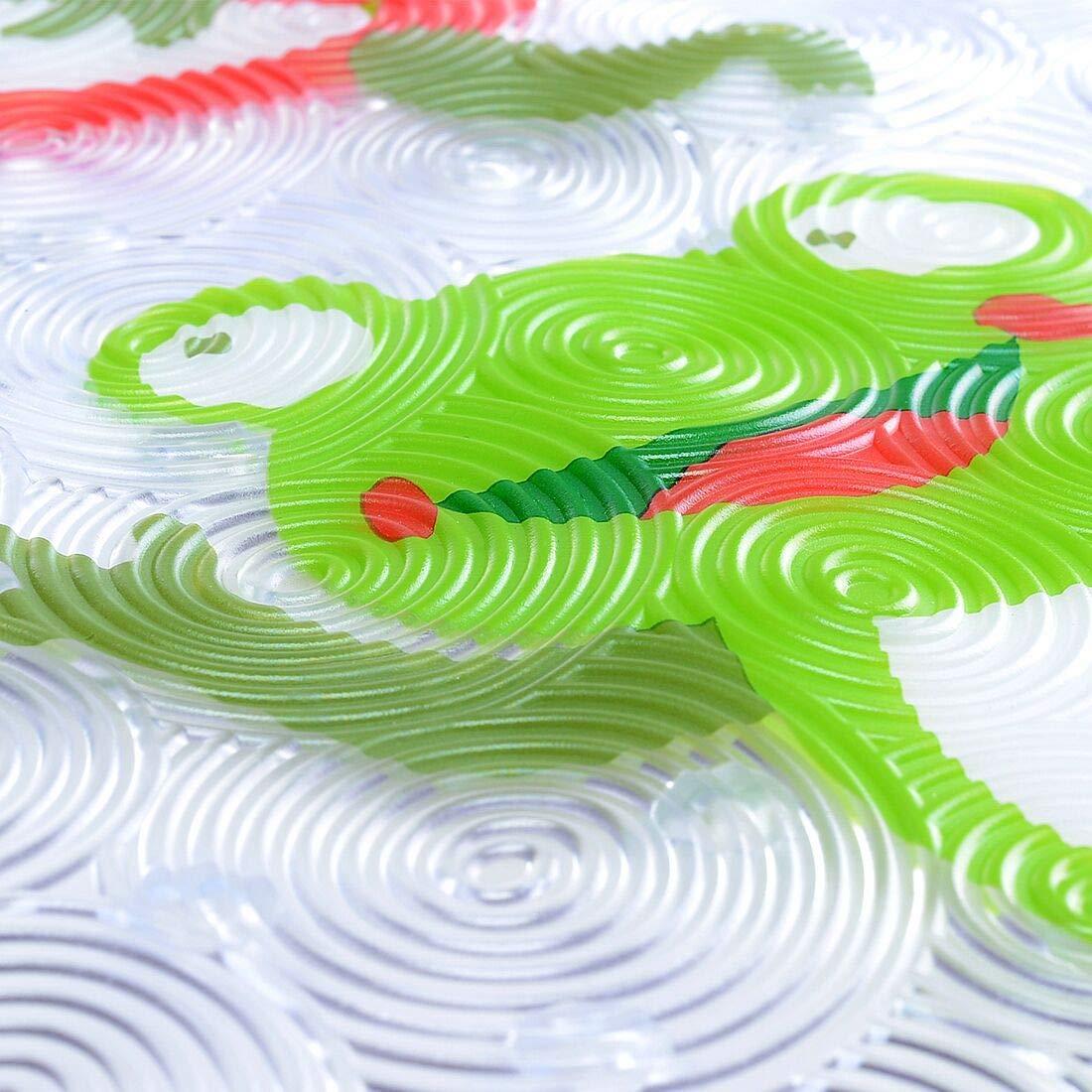 Antideslizante Ni/ños Ba/ñera Estera Rana 69 x 38 cm Lindo Modelo Dise/ño Resistente al Moho Y Lavable en la Lavadora Gspirit Beb/é Ba/ñera Estera con ventosas para ba/ñera