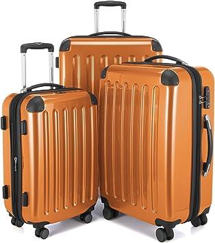 HAUPTSTADTKOFFER Alex Suitcase Hardside Luggage Glossy Trolley Expandable 20 TSA Purple