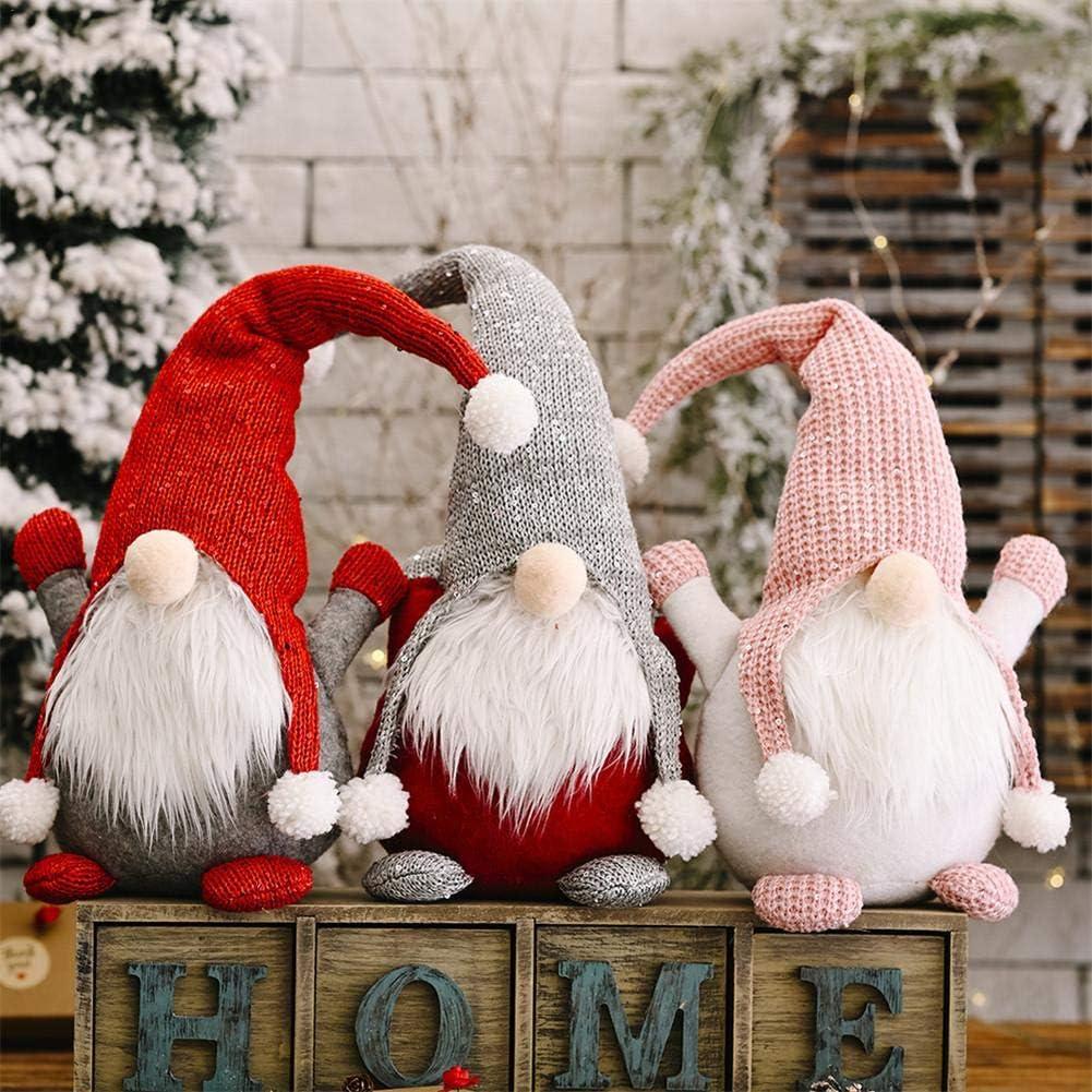 P/ère No/ël, Chapeau Rouge pour la Maison fen/être Decor Vacances Cadeau danniversaire 24/× 10 N//P No/ël poup/ée Decor-su/édois GNOME en Peluche poup/ée scandinave Santa