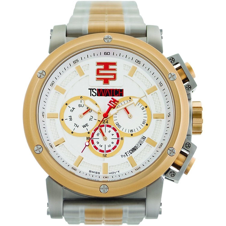 TechnoSport Herren Chrono Uhr - Silber- Gold
