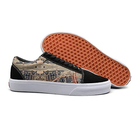 992448201ef3a Amazon.com  Armsttm Women Skate Shoes Old Map City Streets Classic ...