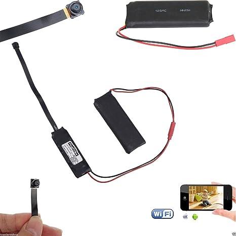 Micro cámara Mini cámara espía Wifi infrarrojos HD 1280 * 720 espía P2P