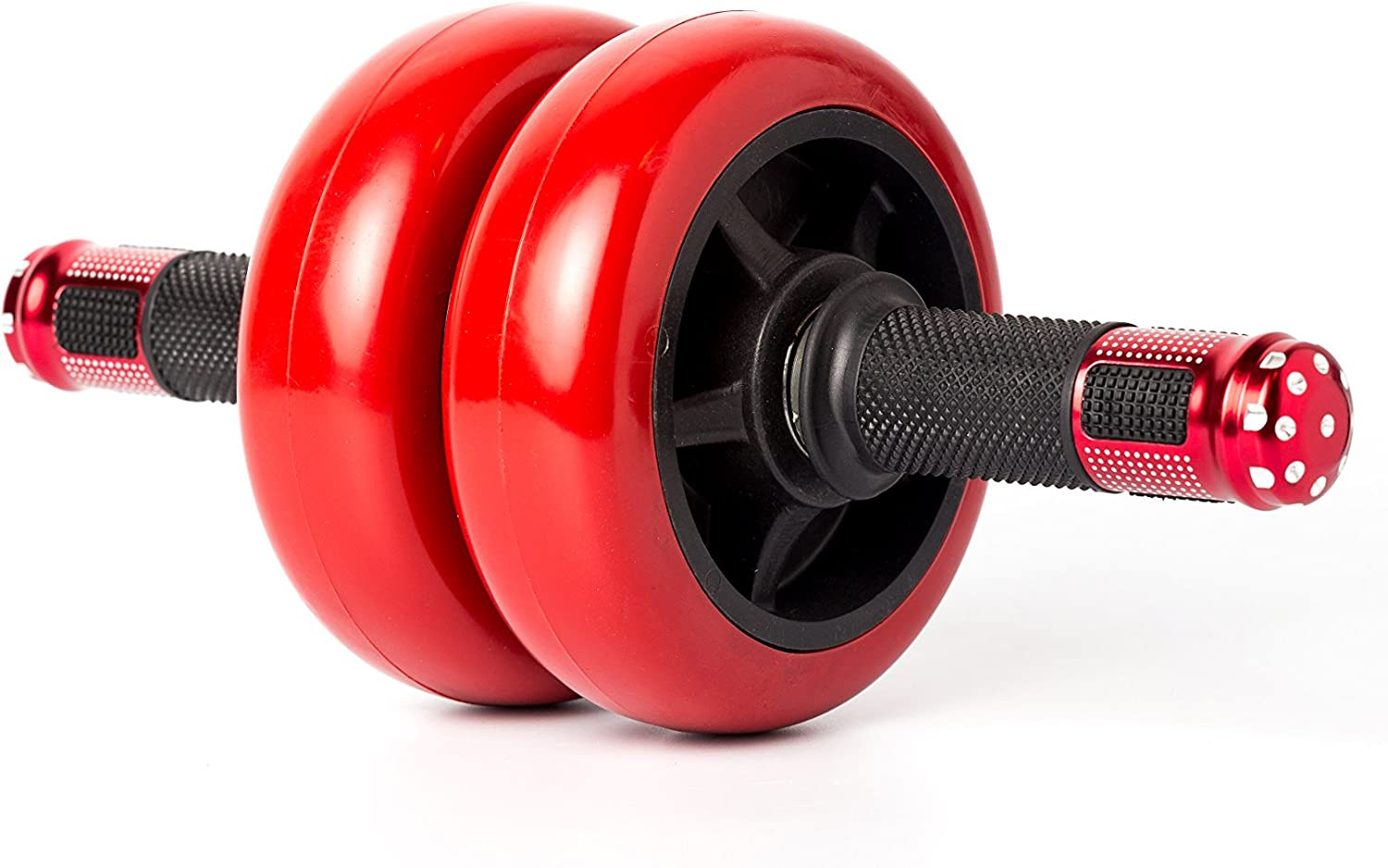 Bodykore Xtreme Kore Super Heavy Duty Ab Roller Double Wheel- Red Black