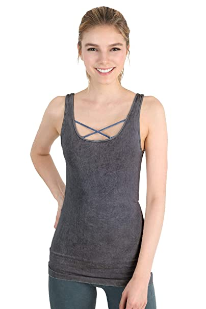 72bf735e67 Nikibiki Womens Seamless Vintage Micromodal Tank One Size Vintage Charcoal  at Amazon Women s Clothing store