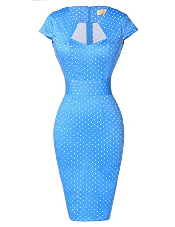 58352f47b797b GRACE KARIN Women's 50s Vintage Pencil Dress Cap Sleeve Wiggle Dress ...