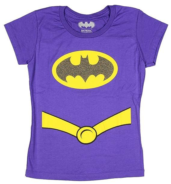 481064cdfd1f Amazon.com: Batgirl Glitter Suit-up Girls T-Shirt: Clothing
