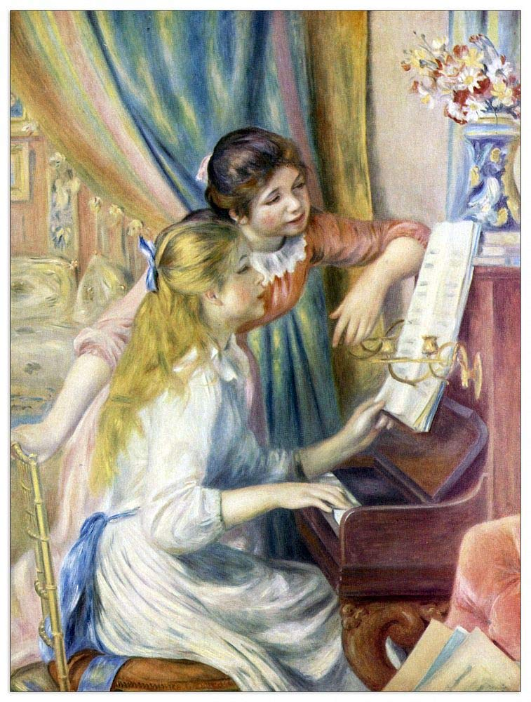 ArtPlaza TW92825 Renoir Pierre-Auguste-Young Girls at The Piano Decorative Panel, 27.5x35.5 Inch, Multicolored