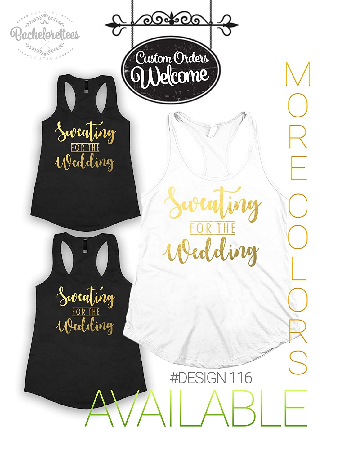 Amazoncom Sweating For The Wedding Tank Top Bachelorette