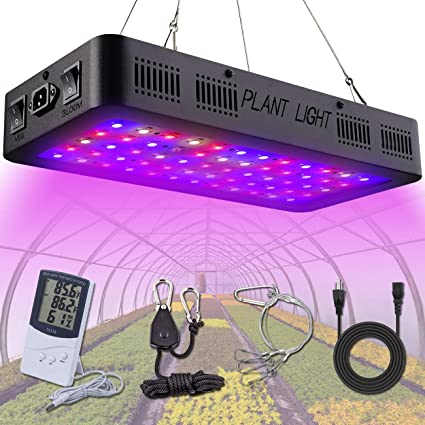 new concept 2e000 0605c Golspark Indoor LED Grow Light, 600 Watt Full Spectrum Plant Light with  Switch, IR&UV Growing Lamp Kits for Greenhouse Hydroponic Seedling Veg and  ...