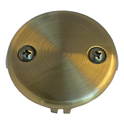 LASCO 03-1433 Bathtub Waste and Overflow 2-Hole Faceplate with 2 ...