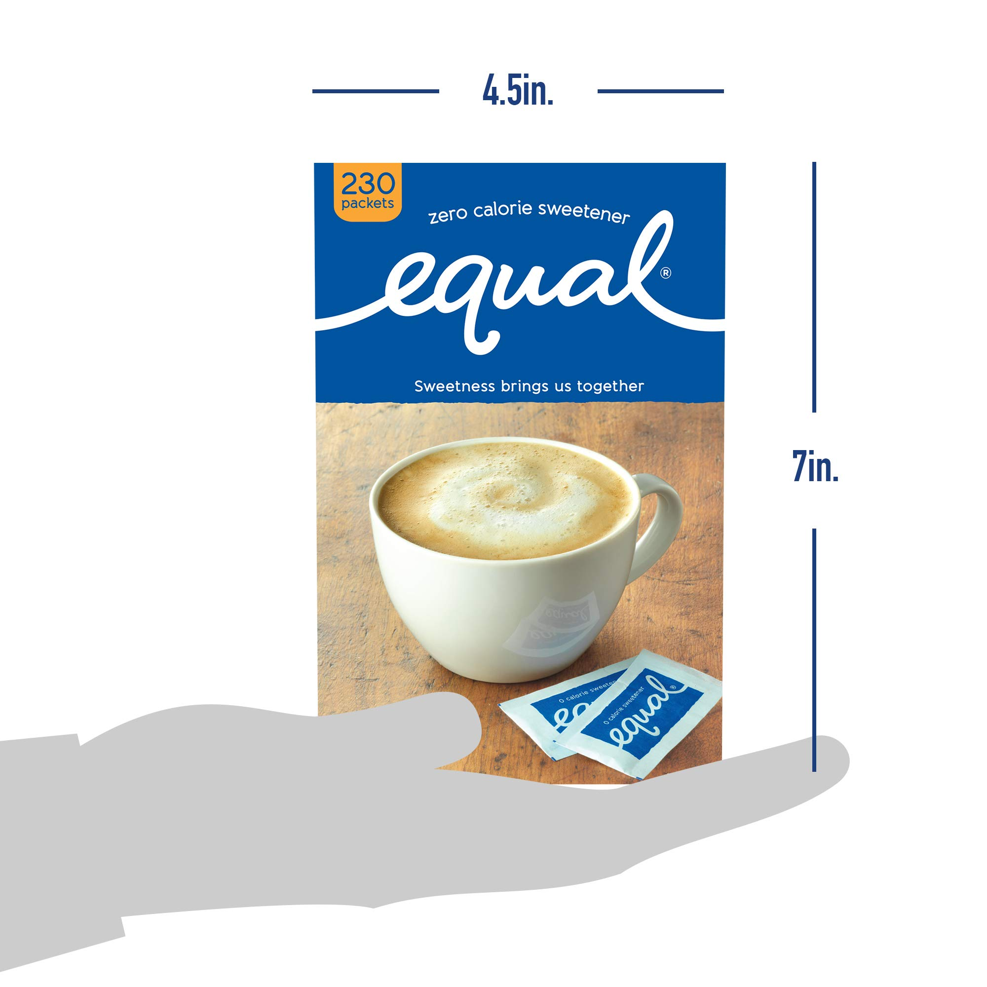 EQUAL 0 Calorie Sweetener, Sugar Substitute, Zero Calorie Sugar Alternative Sweetener Packets, Sugar Alternative, 230 Count (Pack of 3) by Equal (Image #9)