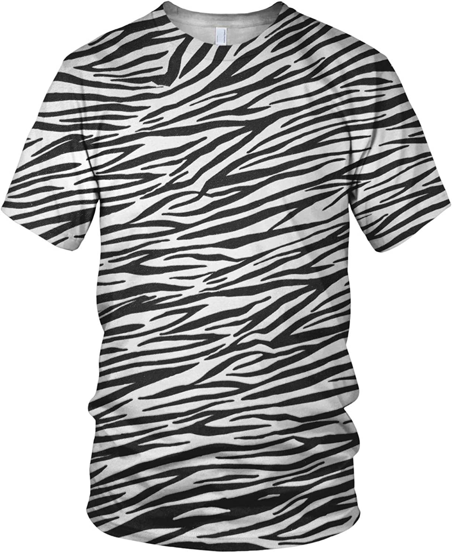 Estampado Entero Cebra Piel Hombre Moda Camiseta - sintético, Multicolor, 100% poliéster 100% poliéster, Hombre, Small, Multicolor: Amazon.es: Ropa y accesorios