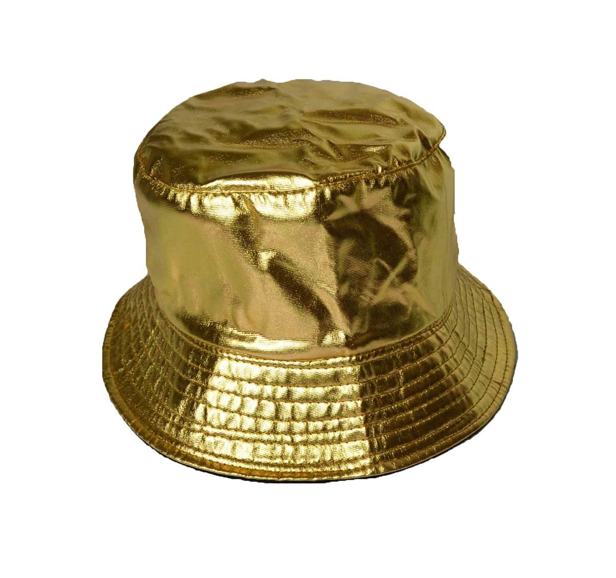 3625d103f13 KGM Accessories Groovy shiny Gold bucket sun hat  Amazon.co.uk  Garden    Outdoors