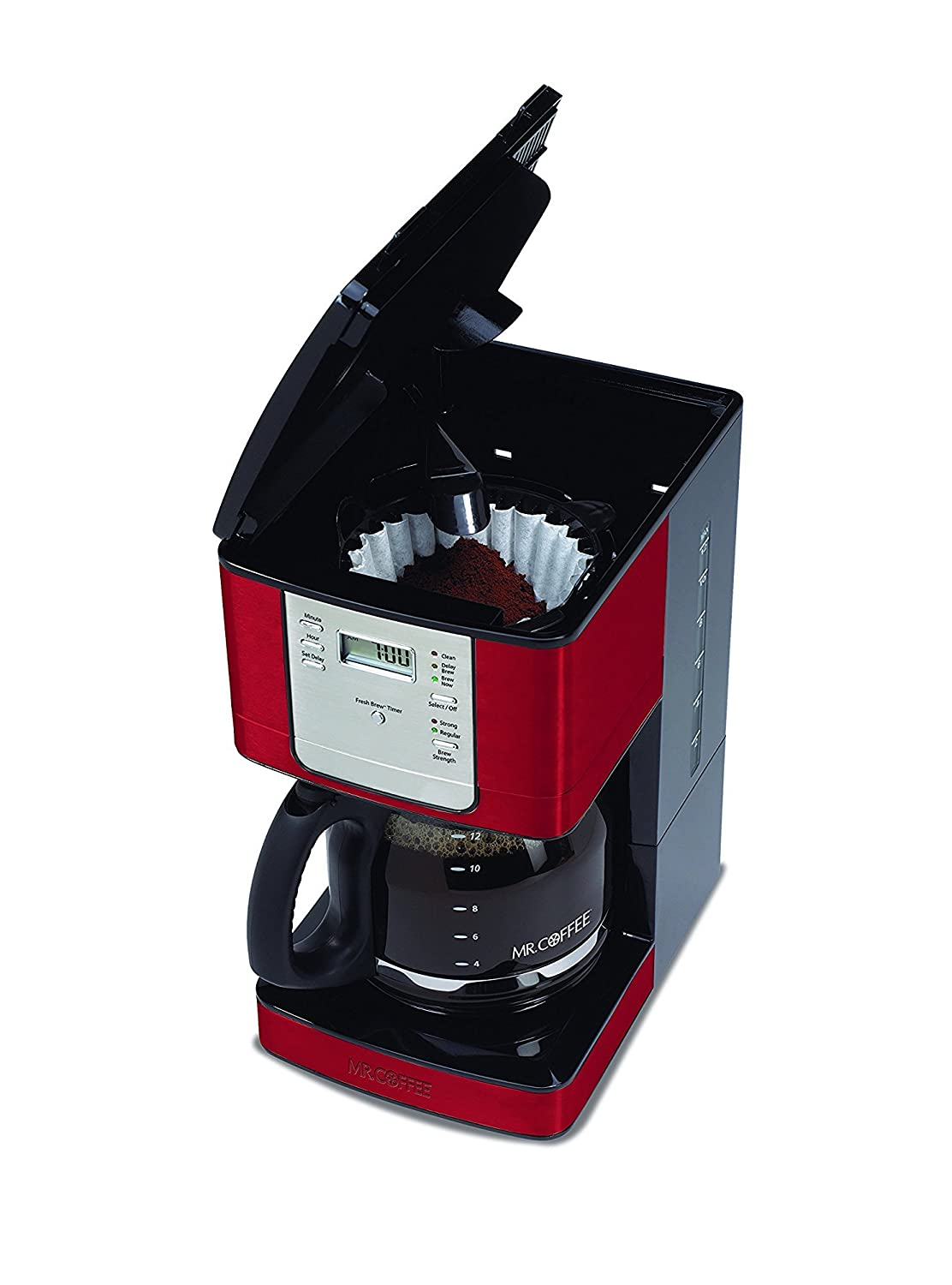 Amazon.com: Mr. Coffee JWX36-RB Advanced Brew 12-Cup Programmable Coffee  Maker, Red: Drip Coffeemakers: Kitchen & Dining