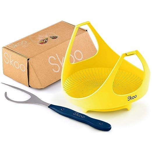 Skoo - Juego de cestas de silicona para vapor de verduras ...