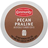 Community Coffee Pecan Praline Flavored Medium Roast Single Serve K-Cup Compatible Coffee Pods, Box of 18 Pods