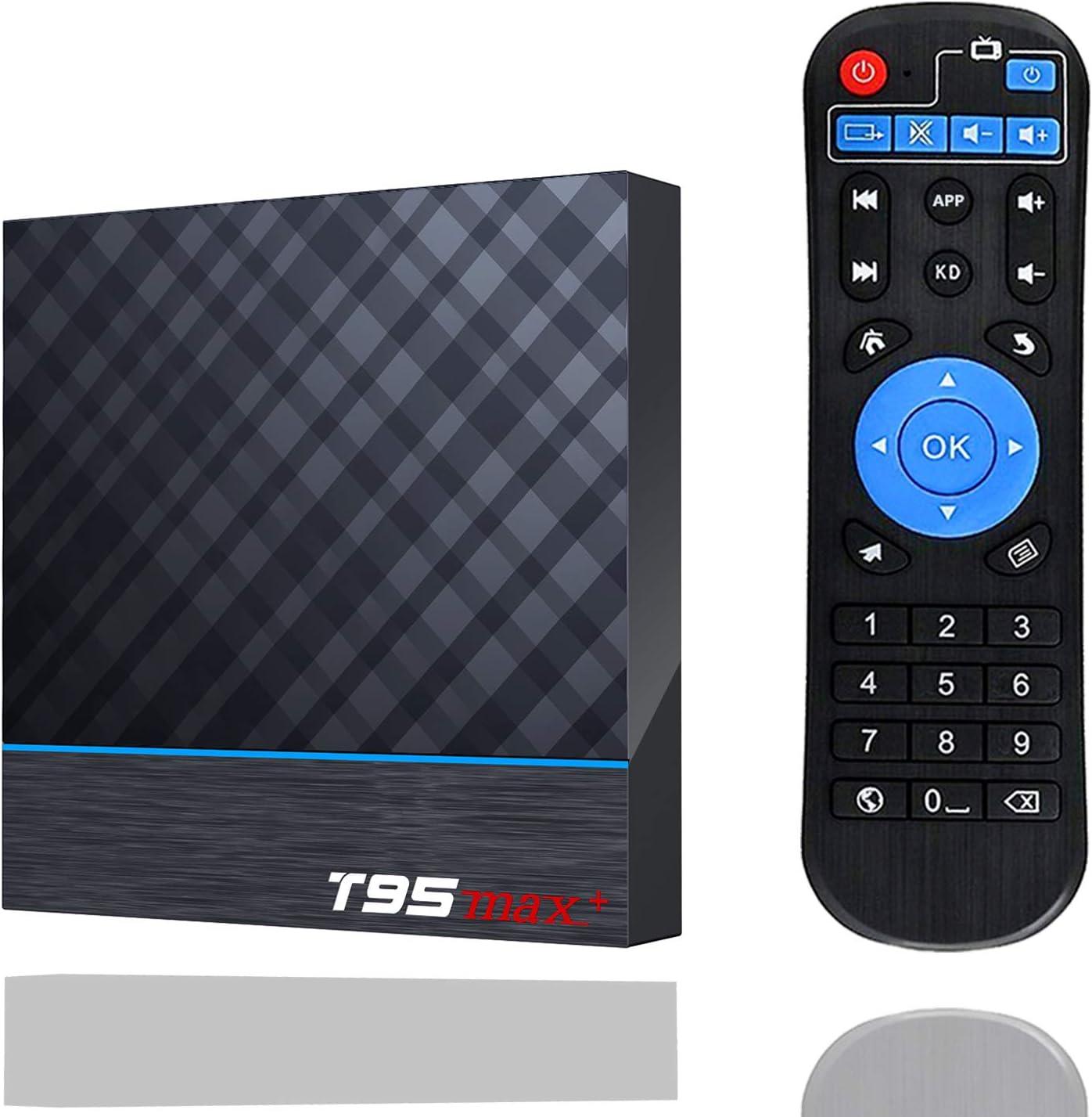 Android TV Box, EVANPO Android 9.0 TV Box 4GB / 64GB Amlogic S905X3 Quad-core Cortex-A55 Bluetooth 4.1, 8K Resolution H.265 2.4GHz&5GHz Dual Band WiFi Smart Box Media Player Set Top Box