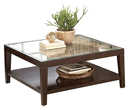 Amazon.com: Valencia Cocktail Table with Glass Insert in ...