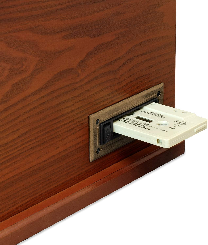 Renewed it.innovative technology Victrola Nostalgic Aviator Wood 8-in-1 Bluetooth Turntable Entertainment Center Mahogany