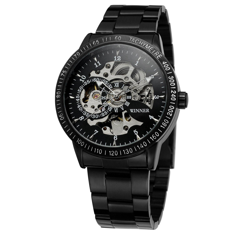 FORSININGメンズファッションDesigner自動スケルトンWrist Watch withステンレススチールBand wrg8031 m4b4 B0714MGZ6M