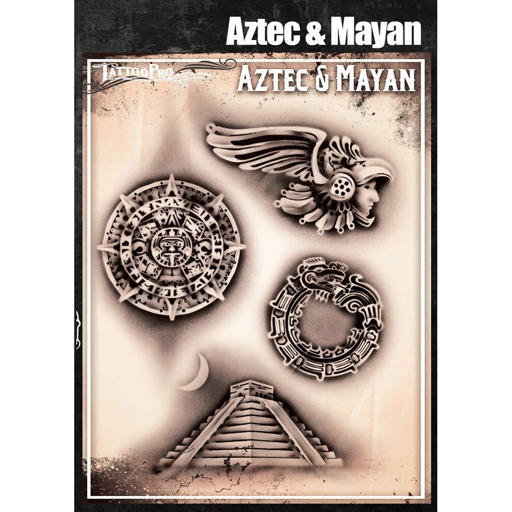 Tatuaje Pro Series Plantillas 4 - azteca y maya: Amazon.es: Hogar