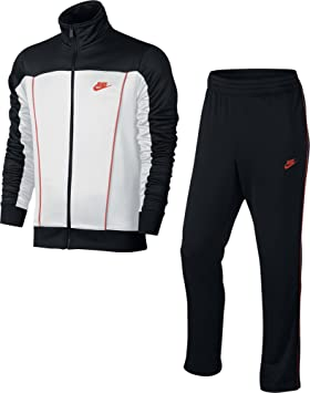 6180368a7 Image Unavailable. Image not available for. Colour: Nike M NSW TRK Suit PK  Pacific Tracksuit for Man, Black (Black/White