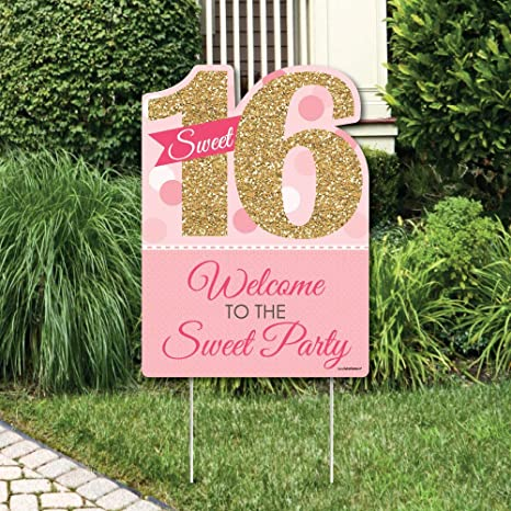 Amazon Com Big Dot Of Happiness Sweet 16 Party Decorations